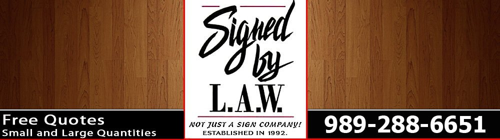 Signs, Designs, Restorations - Durand, MI - Signed By L.A.W.