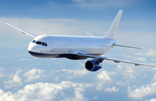 Flying commercial airline