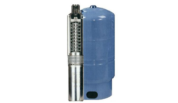 Pump and pressure tank