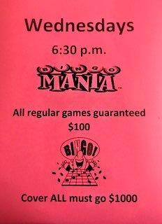 Wednesdays Bingo Mania