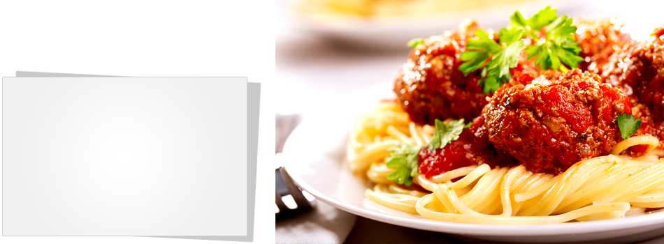 Italian spaghetti with meat balls