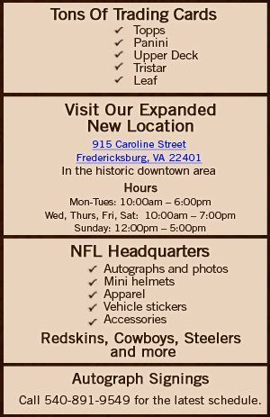 Sports Memorabilia - Fredericksburg, VA - The Card Cellar