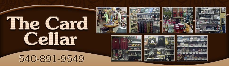 Sports Collectibles and Gifts - Fredericksburg, VA - The Card Cellar