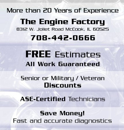 Auto Service Center - McCook, IL 60525 - The Engine Factory