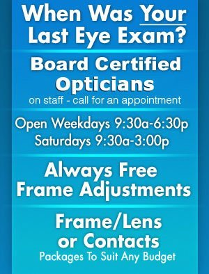 Board Certified Optometrists - Sturgeon Bay, WI - Eyes For You