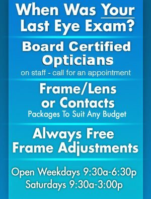 Eyewear Frames & Contact Lenses - Sturgeon Bay,  WI - Eyes For You