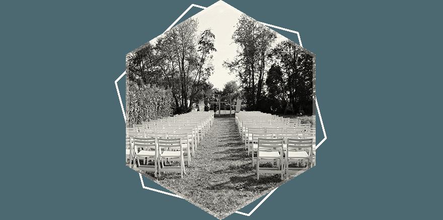 White Wedding Chairs  at wedding