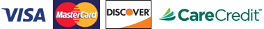 Visa, MasterCard, Discover, CareCredit
