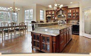 Wooden cabinet on kitchen