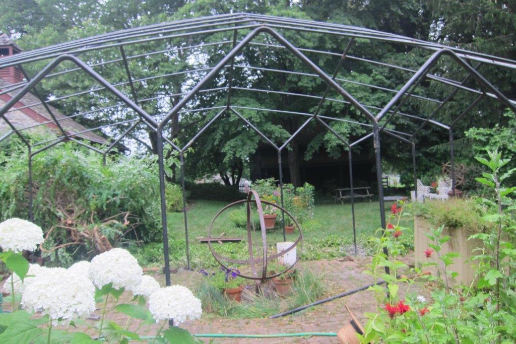 Iron rose arbors