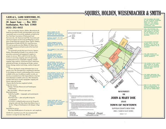 Land Surveying | Southampton, NY | S.H.W. & S., PC | 631-283-0412