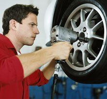 Auto Repair - Granite Quarry, NC - Granite Auto Parts & Service - Tire installation