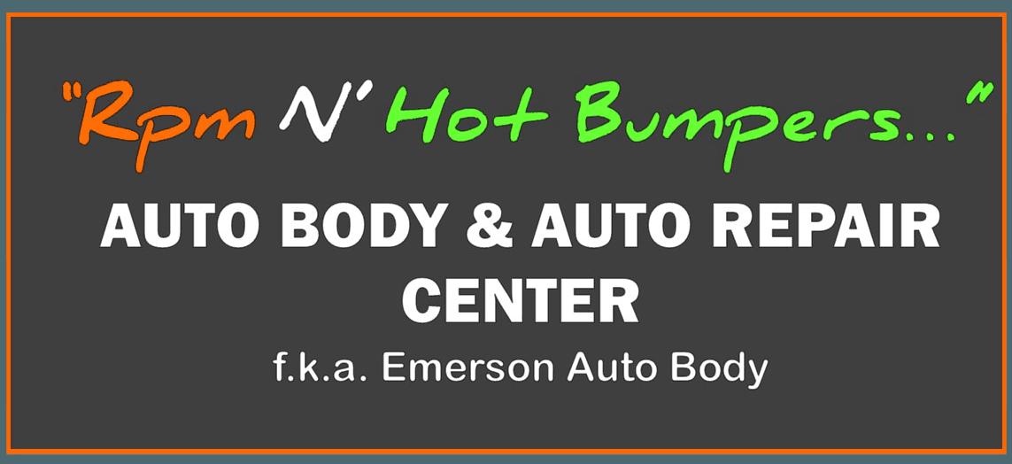 RPM 'N' Hot Bumpers fka. Emerson Auto Body - logo