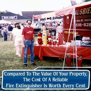 Fire Protection - Hudson, NY - Sausbier's Awning Shop Inc. - Compared To The Value Of Your Property, The Cost Of A Reliable Fire Extinguisher Is Worth Every Cent