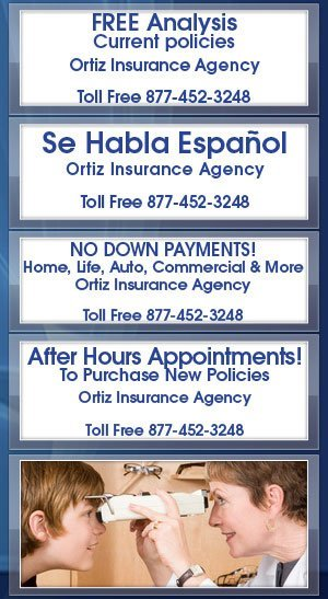 Vision Insurance - Ortiz Insurance Agency - Houston, TX