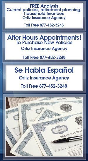 Financial Products - Ortiz Insurance Agency - Houston, TX