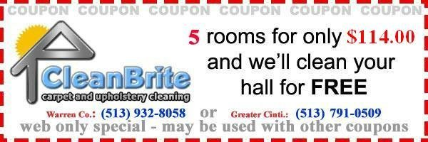5 rooms for only $114  and we'll clean your hall for free