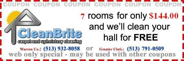 7 rooms for only $144 and we'll clean your hall for free