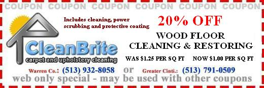 20% off wood floor cleaning and restoring