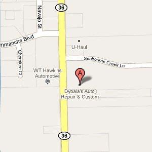 Dybala's Auto Repair & Custom - 5608 Hwy 36 S  Rosenberg, TX 77471-9128