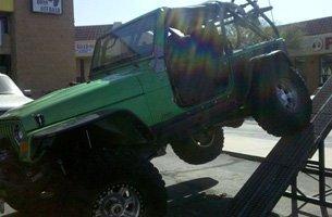 Green 4x4 truck