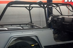 A unfinish jeep body