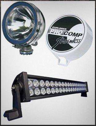 Lighting accessories of 4x4 trucks