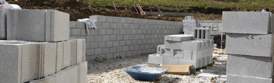 Concrete block work