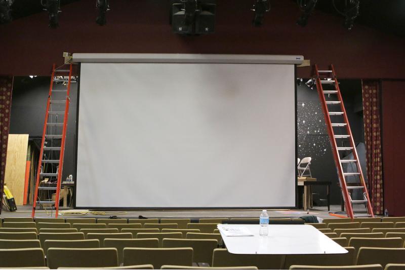 large screen installation