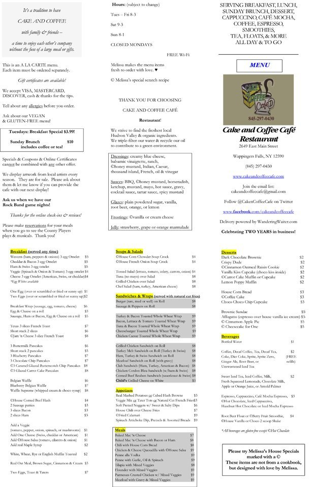 Tea, Coffee and Smoothies - Wappingers Falls, NY - Cake and Coffee Cafe