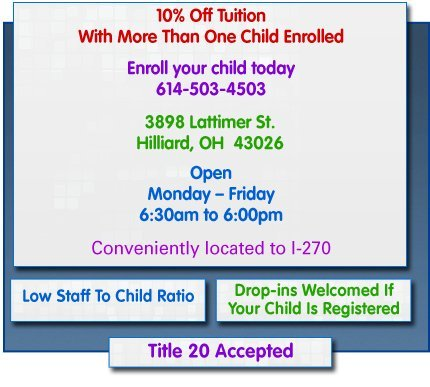 Child Care Center - Hilliard, OH - SarahAnn's Learning Unlimited LLC