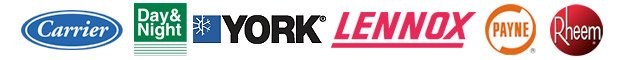 Carrier | Day & Night | York | Lennox | Payne | Rheem