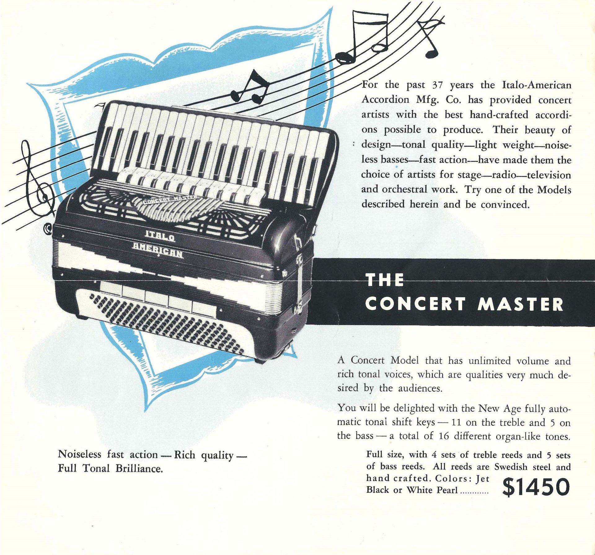 Concert Master Accordion