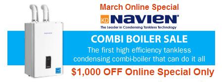 $500 OFF Combi Boiler