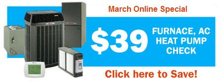 $39 Furnace, AC or Heat Pump Check