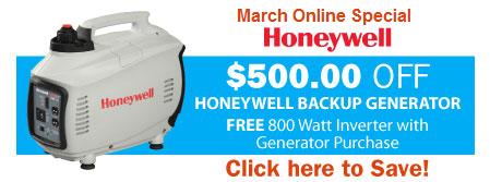 $500 OFF Honeywell Generators