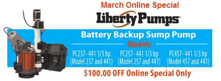 $100 OFF Battery Sump Pumps