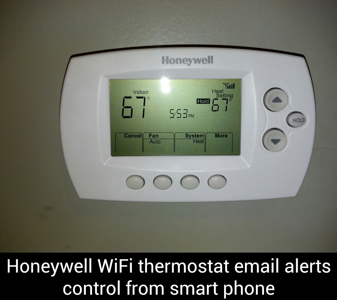 Honeywell WiFi thermostat – Email alerts control from smart phone
