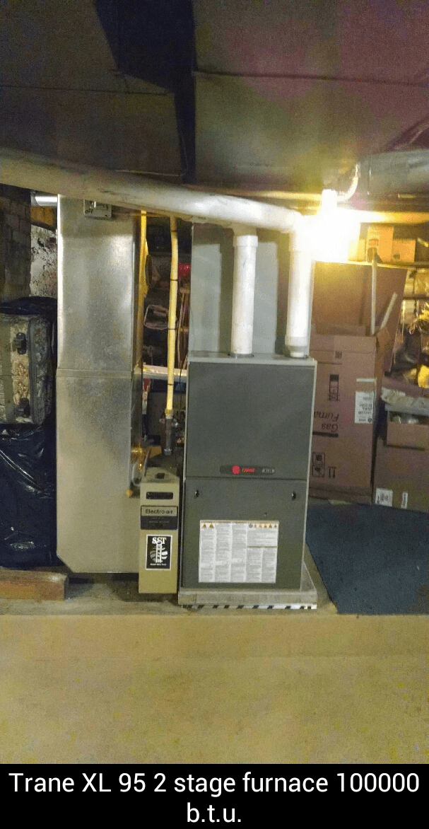 Trane XL 95 2 stage furnace 100000 b.t.u