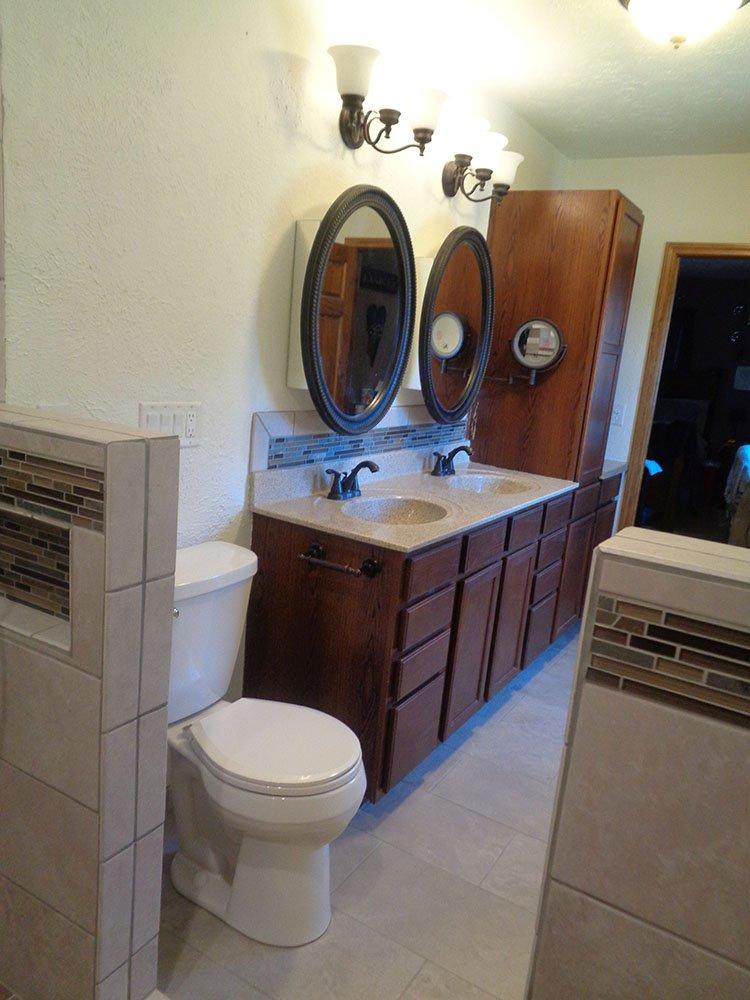 Bathroom remodeling after