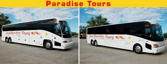 Charter Busing - Albert Sanchez Bus Co - Albuquerque, NM - Paradise Tours Charter Buses
