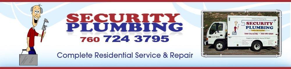 Plumber - Vista, CA  - Security Plumbing