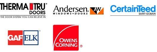 THERMA TRU DOORS | ANDERSEN WINDOWS & PATIO DOORS | CERTAINTEED SIDING & ROOFING | GAF/ELK | OWENS CORNING