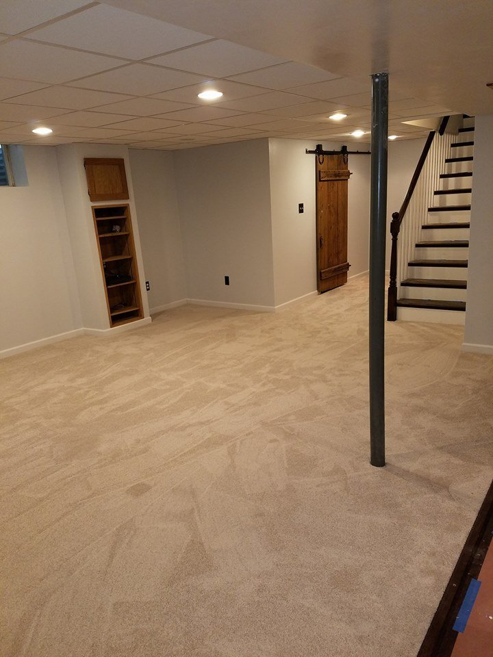 Installed carpet