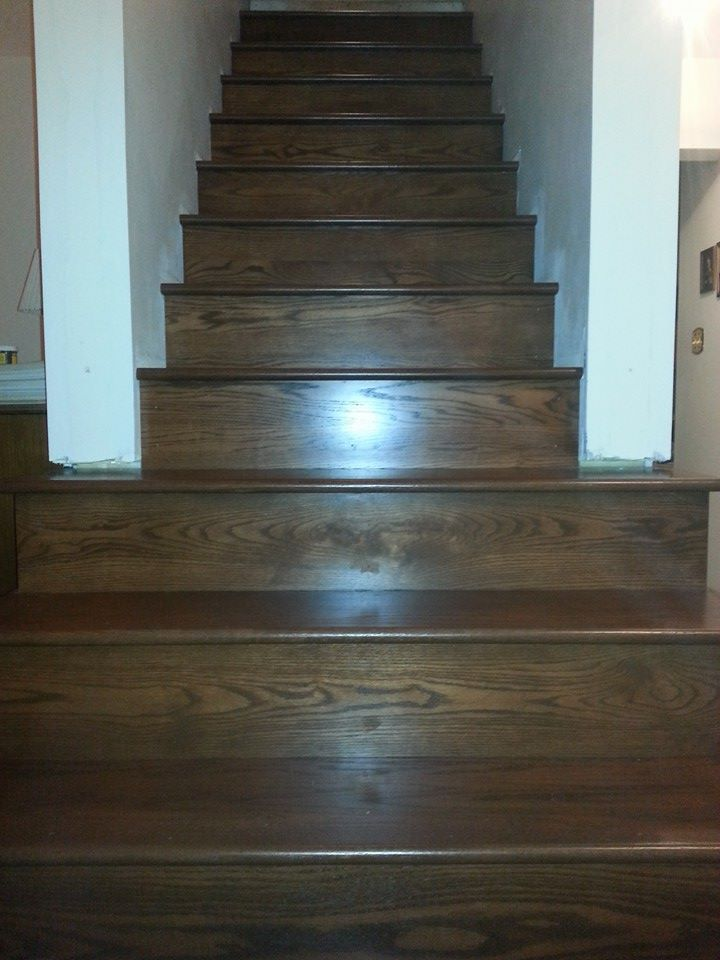 Wooden stairs flooring