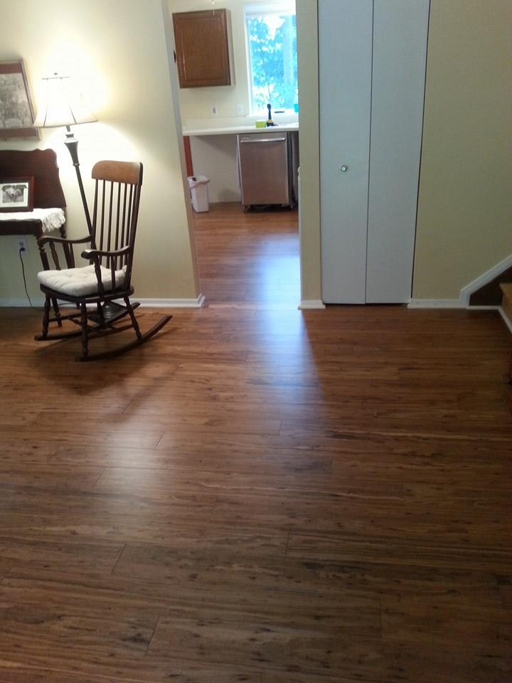 Replaced floor