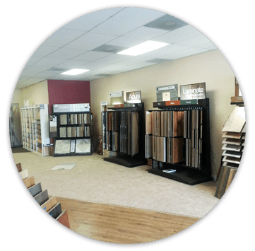 Flooring material displays