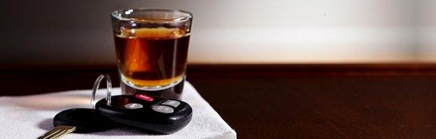 Alcohol and car key