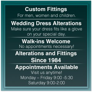 Designers Apparel - Custom Fittings  - Cleveland,  TN