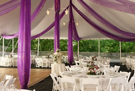 Outdoor reception setting